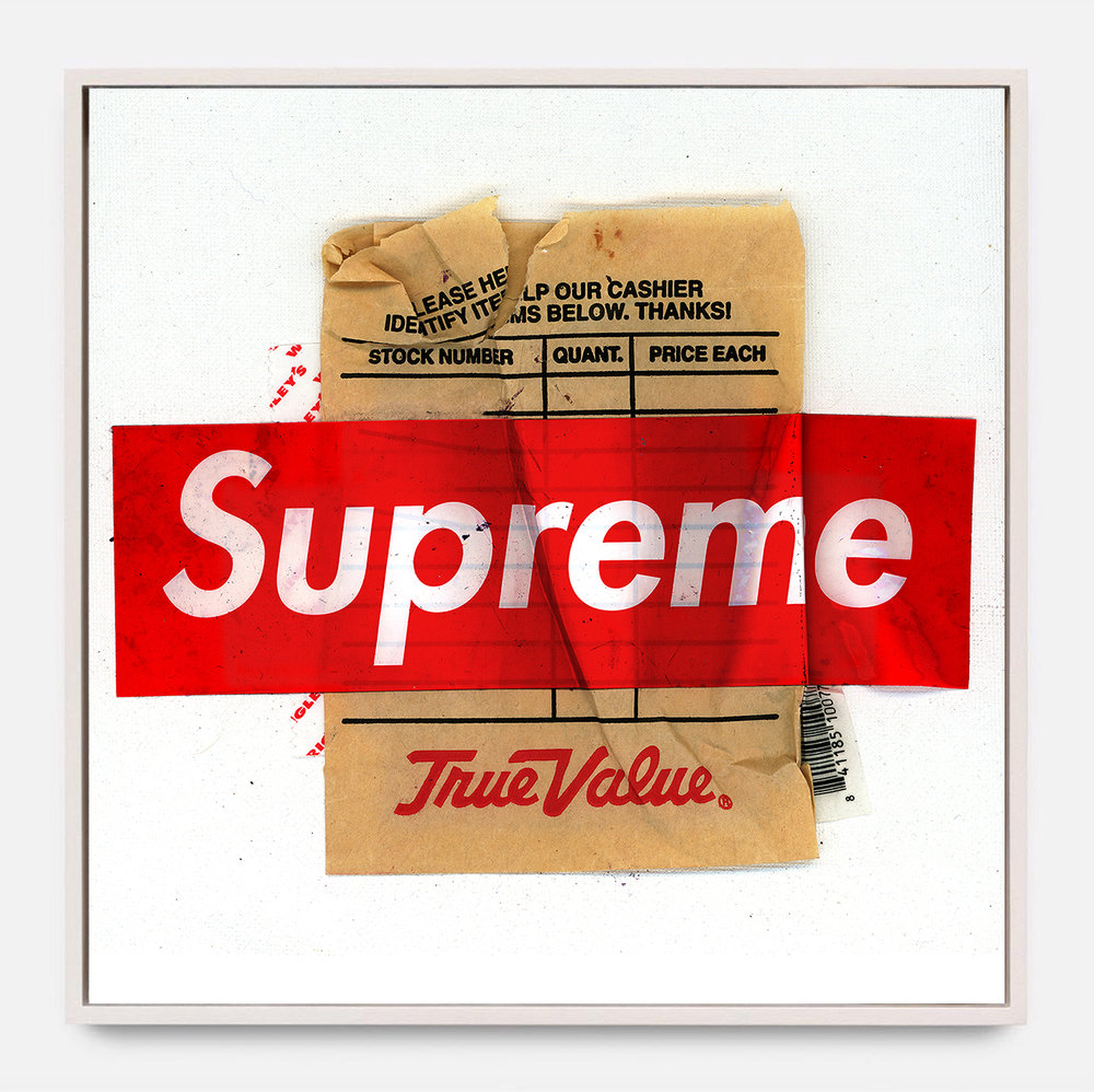 SUPREME VALUE  (2018) Mixed Media on Wood Panel 40 x 40 inches One of a Kind $ 1,000.00