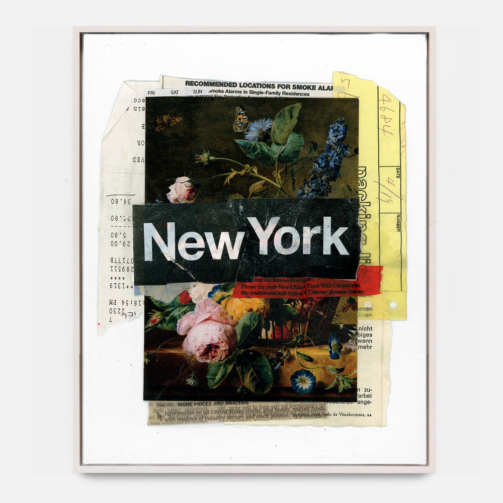 NEW YORK  (2018) Mixed Media on Wood Panel 48 x 72 inches One of a Kind $ 2,000.00 |  *SOLD