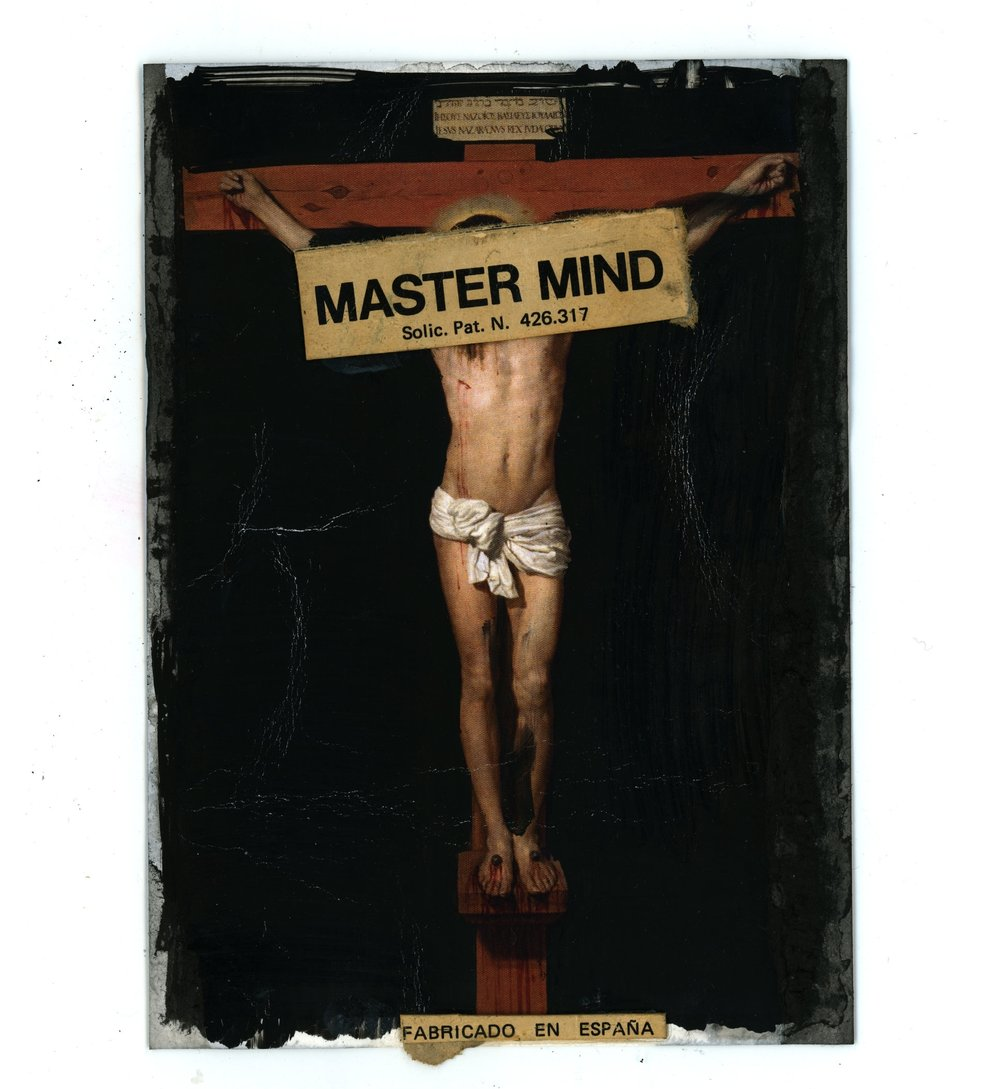 MASTERMIND  (2018)   Mixed Media on Paper 9 x 9 inches (framed) One of a kind $750.00
