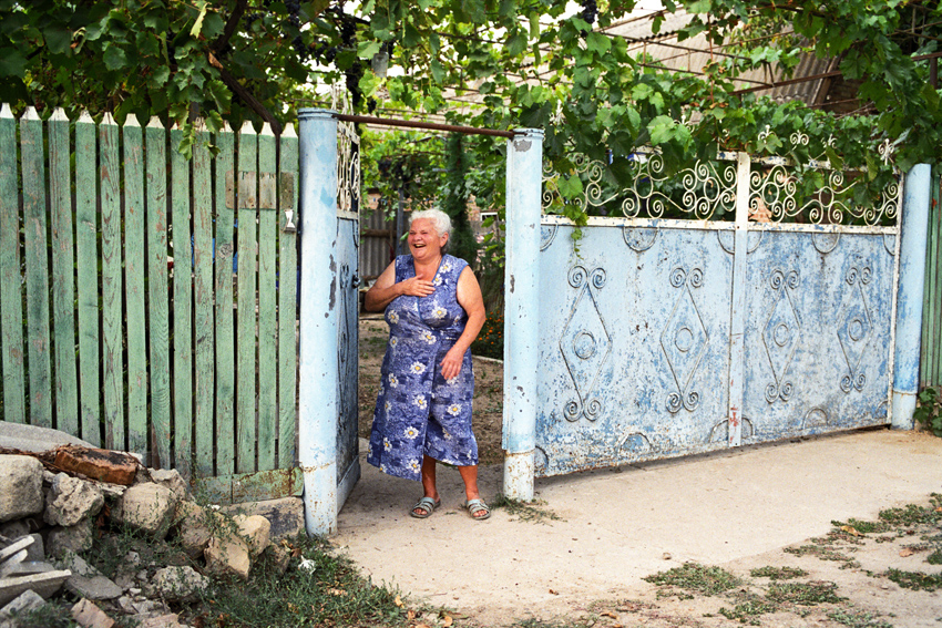 Woman at  Cioburciu Village.