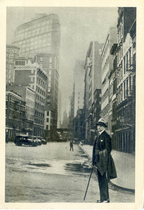 Although this image on the back has soviet postcard markings, it looks like New York.