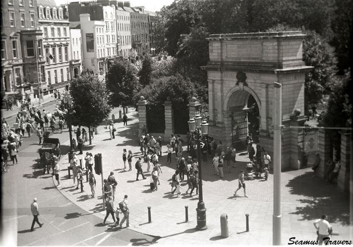 The Boer War Arch at Saint Stephens Green.