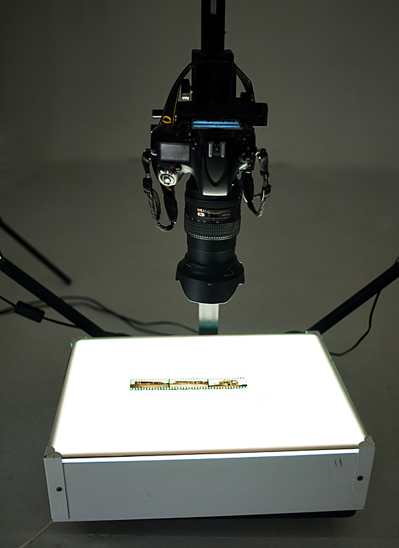 Light box with Nikon D800 turned into a DIY neg scanner.