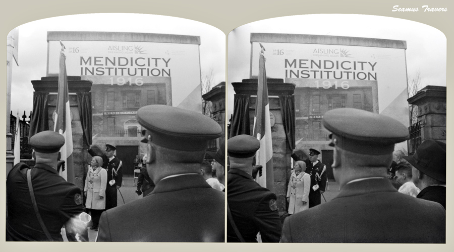 The Mendicity institute plaque ceremony, with the lord mayor of Dublin.