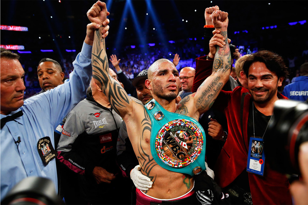 Middleweight lineal champ, Miguel Cotto Photo: Will Hart