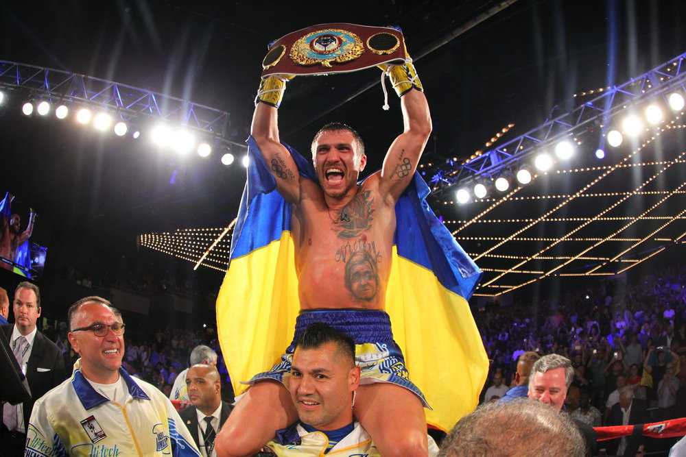 Vasyl Lomachenko is coming off a knockout victory over Roman Martinzez. Photo: Will Hart