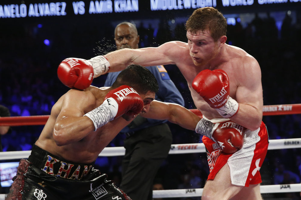 Canelo next faces Julio Chavez Jr. on May 6.