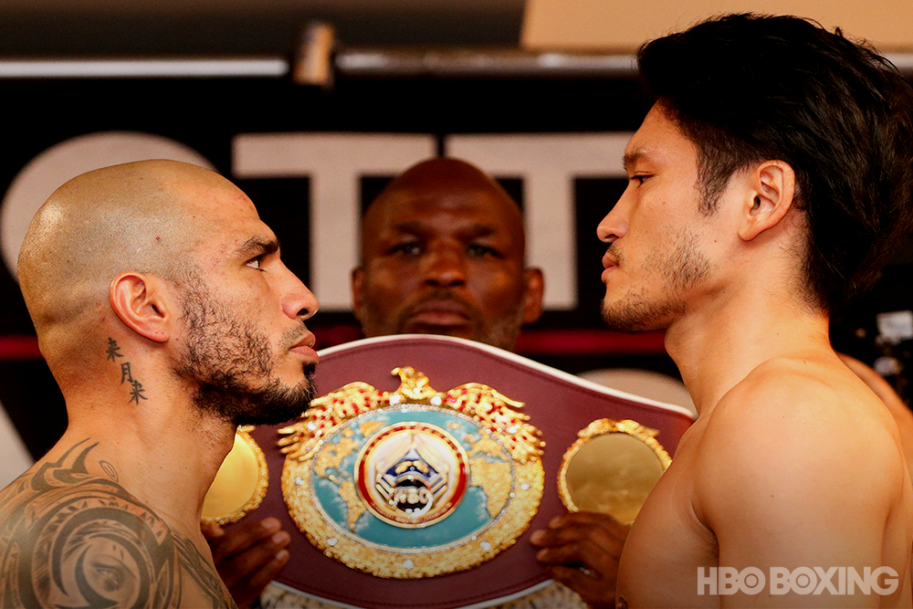 cotto kamegai staredown weigh in.png
