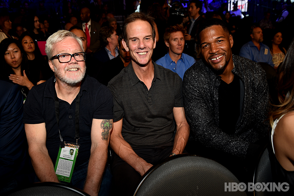 Freddie Roach, Peter Berg, and Michael Strahan