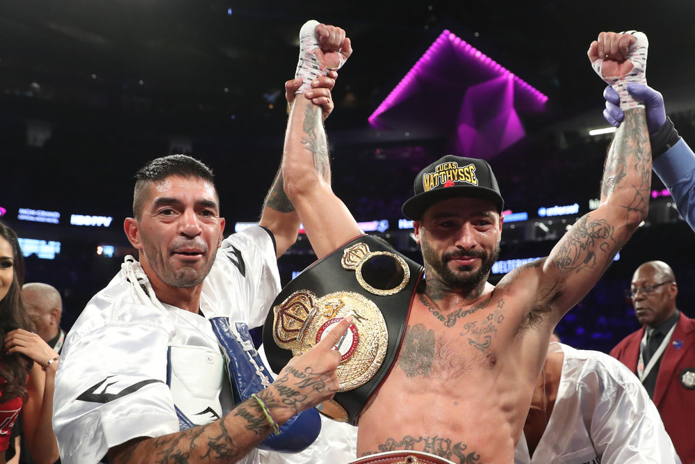 Lucas Matthysse, above, faces Tewa Kiram for a welterweight title on Jan. 27. (Photo: Ed Mulholland)