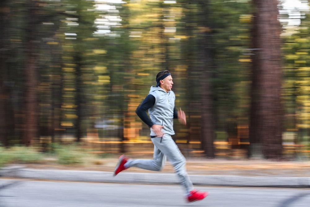 Gennady Golovkin trains for his fight against Canelo Alvarez Big Bear, California.