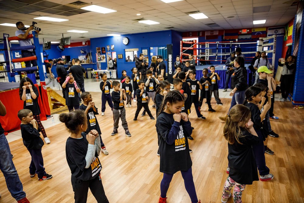 HBO Boxing HBO Latino children practice shadow boxing.jpg