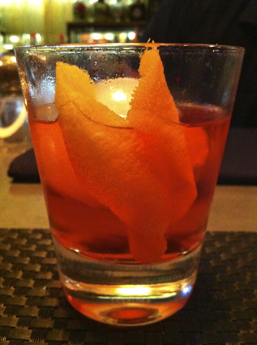 A Sazerac made with Bulleit Rye. Simple and delicious.