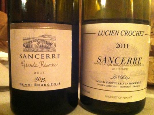 2011 Henri Bourgeois Sancerre and2011 Lucien Crochet Sancerre