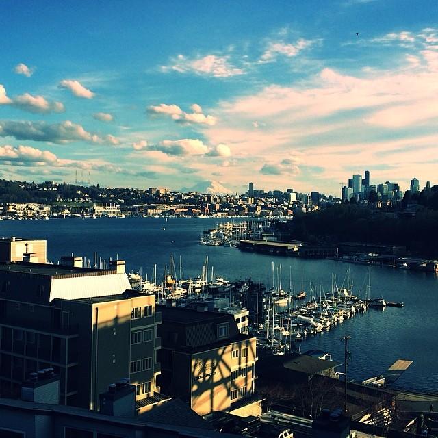 Downtown . Bay . Mountain .