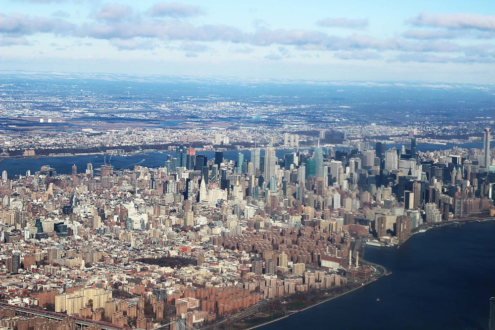 View from the top! Flying into Laguardia International Airport. Perks of the window seat.