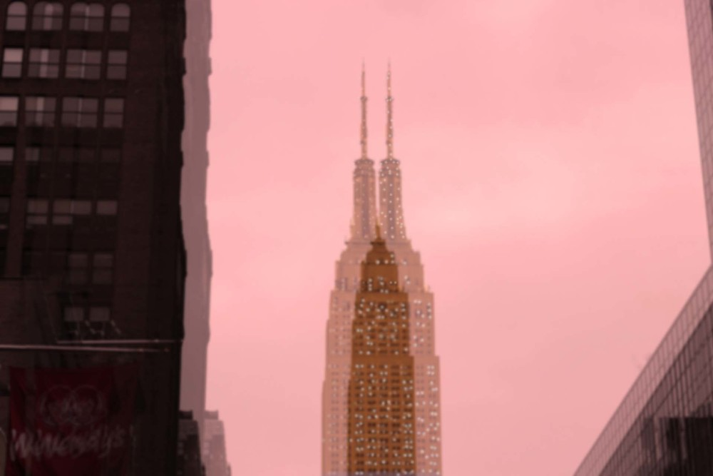 Empire State Building from below.