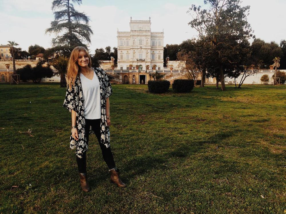 ^ That's me! And behind me is the beautiful Villa Doria.