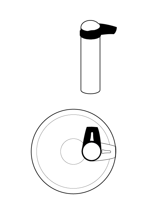 5. rotate and remove the handle