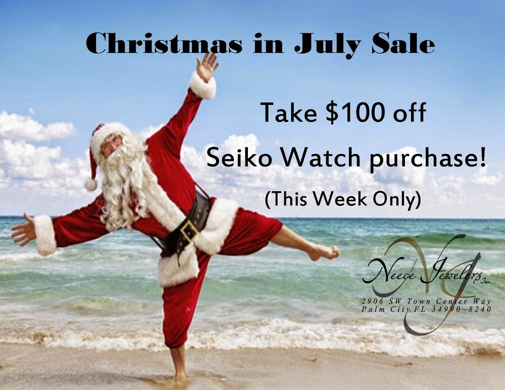 Take $100 off any Seiko Watch purchase this week!