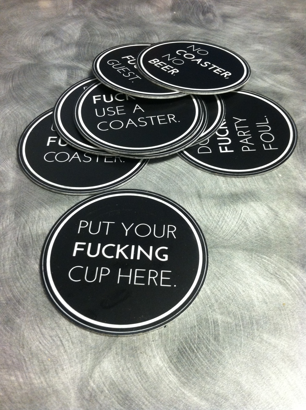 F*cking Coasters in Black