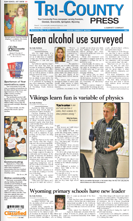 Tri-County Press front page
