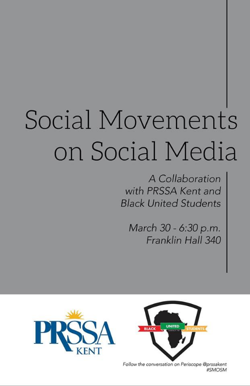 Social Movements on Social Media flier