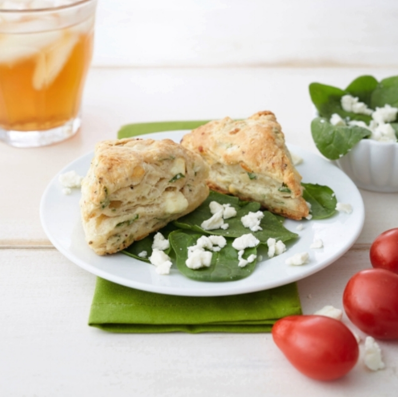 Spinach Feta Scones