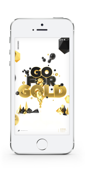 Go For Gold iPhone wallpaper