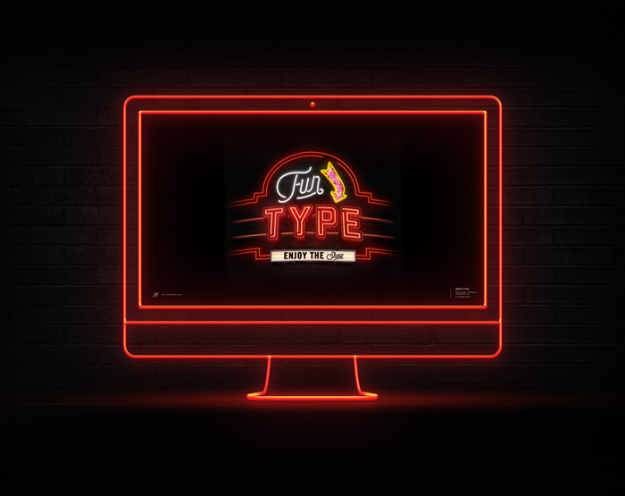 Fun With Type | Neon Experiment Wallpaper