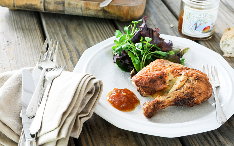 Virginia Chutney Company | Chutney & Mustard Glazed Chicken | SavoryPantryblog.com #chutney