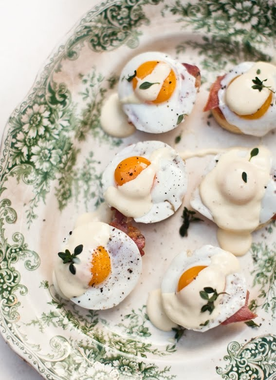 Mini Eggs Benedict Canapes