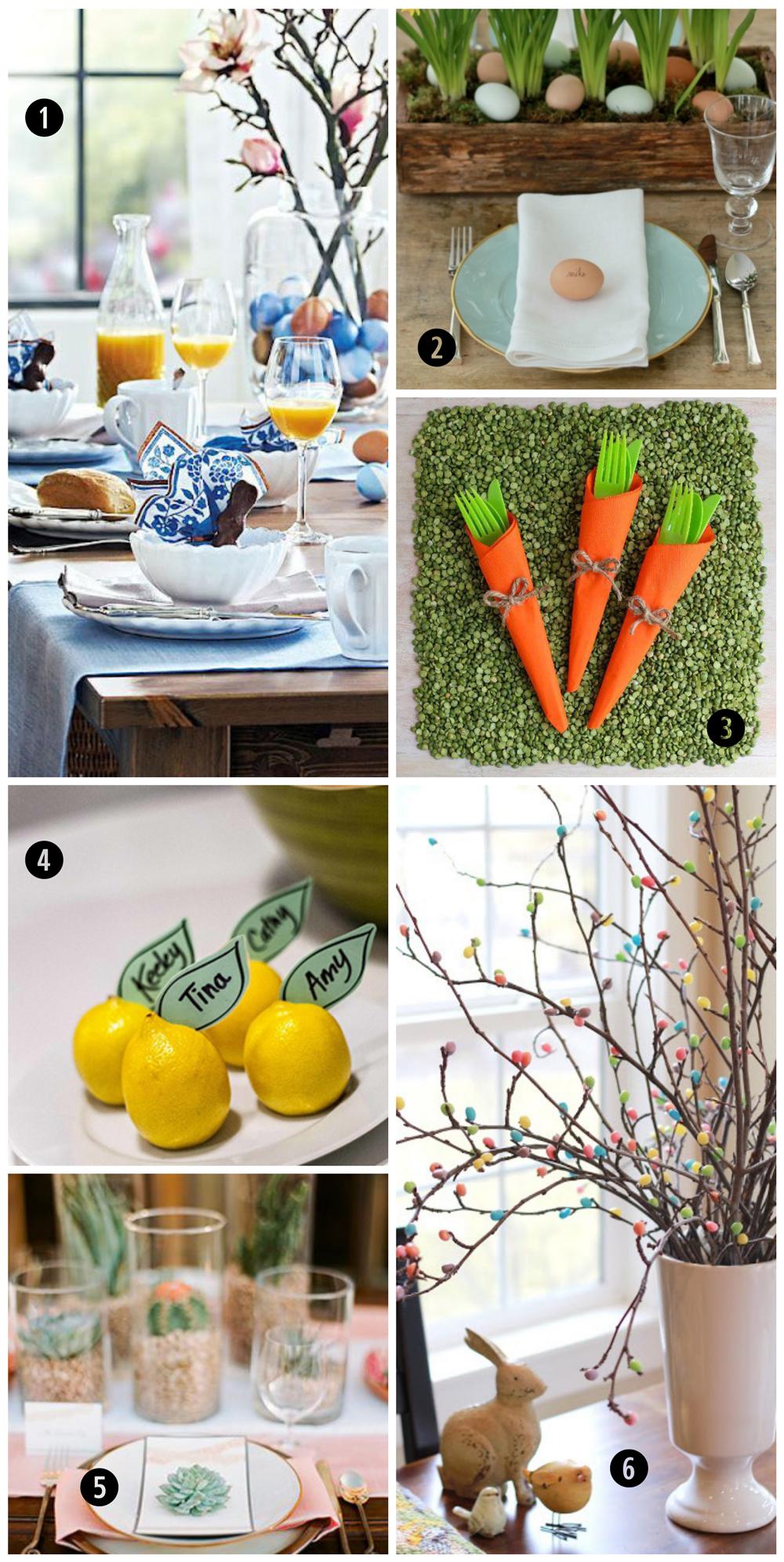 Easter Table Settings & Decor