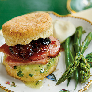 Fluffy cream cheese biscuits are a great option for impromptu sandwich making.