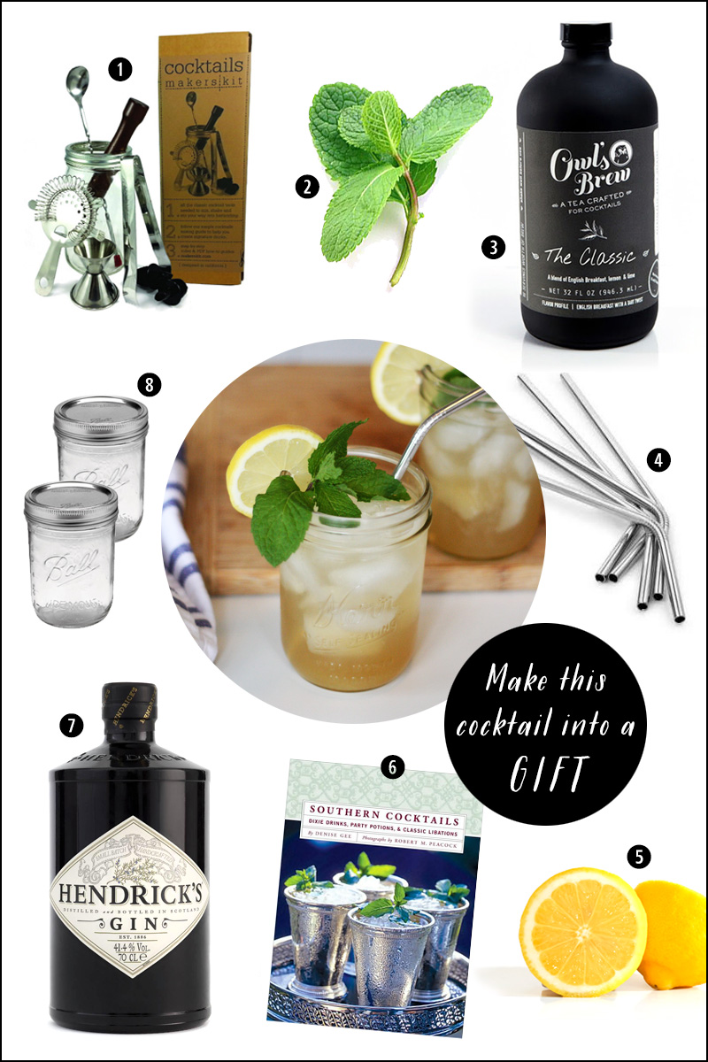Make this Sweet Tea Cocktail into a Gift!  | SavoryPantryBlog.com