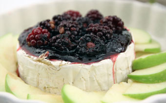 Baked Brie with Blackberry Spice + Sage Jam | Mother's Day Lunch | SavoryPantryBlog.com