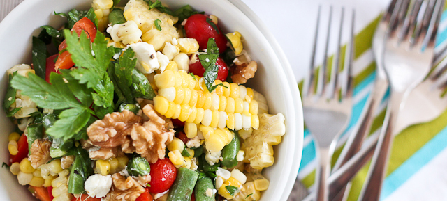 Grill Roasted Corn Salad | Mother's Day Lunch | SavoryPantryBlog.com