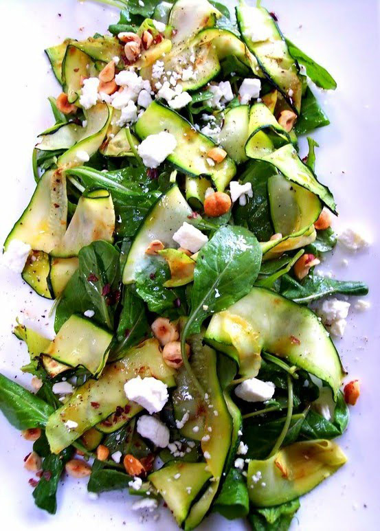 Zucchini Ribbon Salad | National Salad Month | SavoryPantryBlog.com