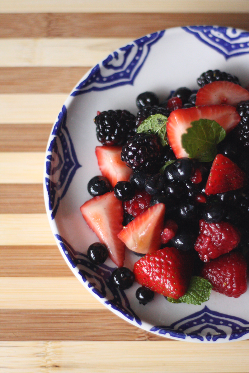 Recipe: Lavender Infused Berry Salad | SavoryPantryBlog.com