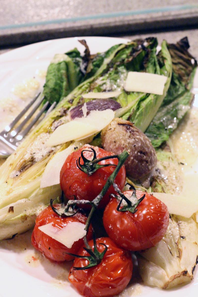 Grilled Summer Caesar Salad | SavoryPantryBlog.com