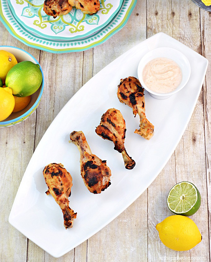 A lighter option for serving chicken...and you won't believe how good the dipping sauce is!