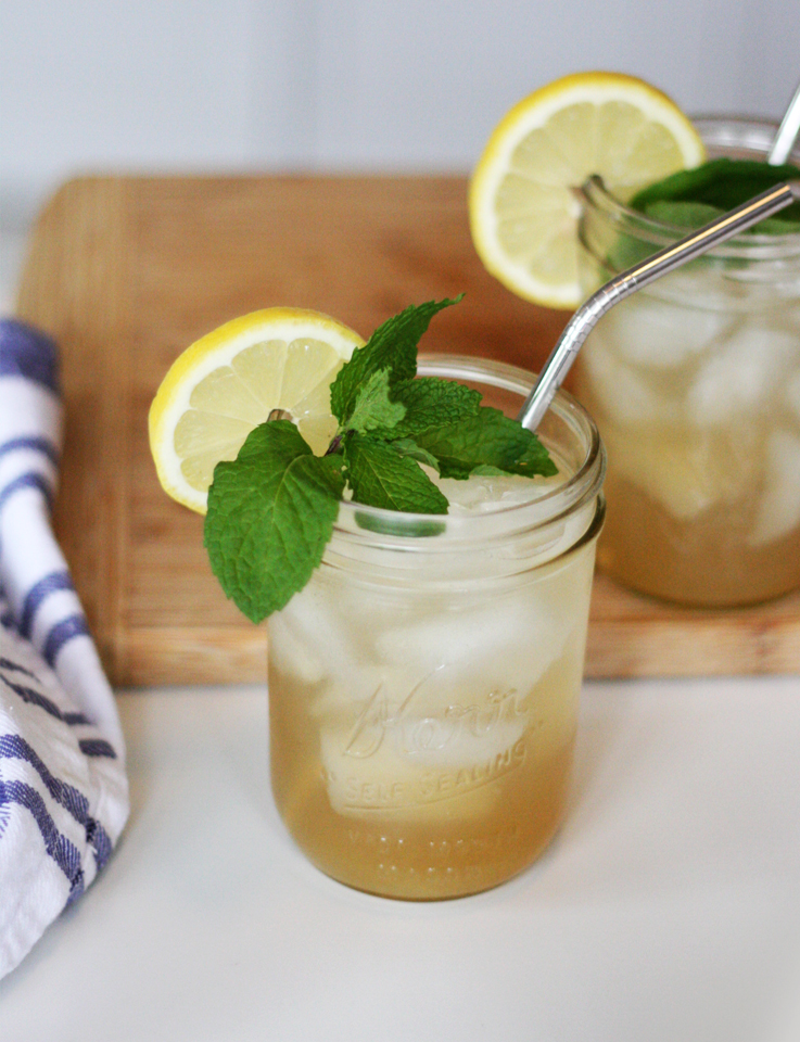 Sweet Tea Cocktails made with Owl's Brew are mild enough to drink with a meal.