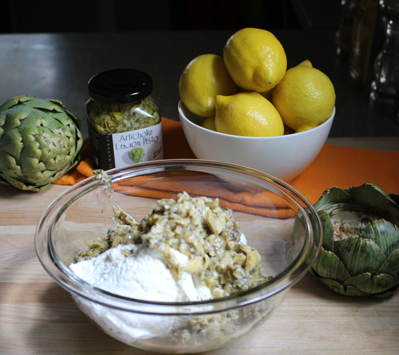 Recipe: Artichoke Lemon Pesto Dip in an Artichoke Dipping Bowl ...