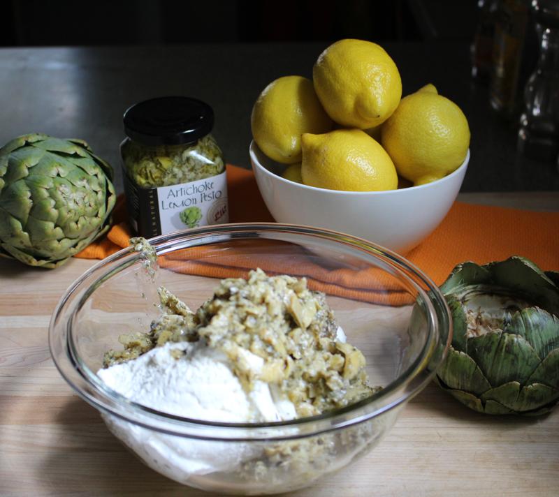 Recipe: Artichoke Lemon Pesto Dip in a Artichoke Dipping Bowl | SavoryPantryBlog.com