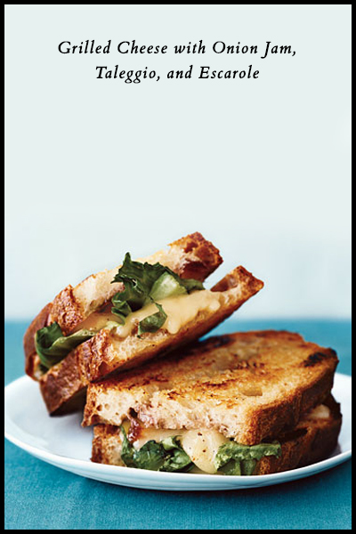 Roundup: Jam Sandwiches | Grilled Cheese with Onion Jam, Taleggio, and Escarole | SavoryPantryBlog.com