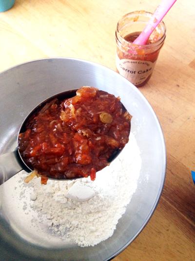 Recipe: Potlicker Jam Carrot Cake Griddle Cakes | SavoryPantryBlog.com