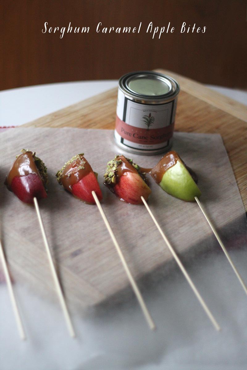Sorghum Caramel Apple Bites | SavoryPantryBlog.com