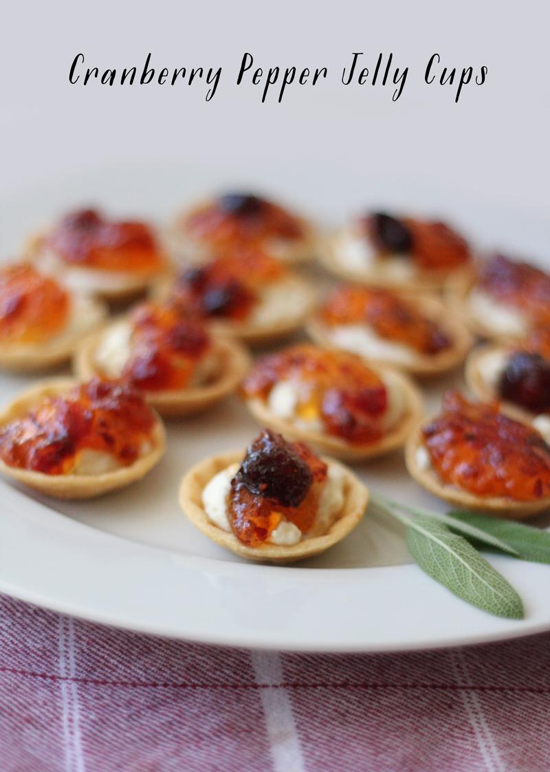 Recipe: Cranberry Pepper Jelly Cups | SavoryPantryBlog.com