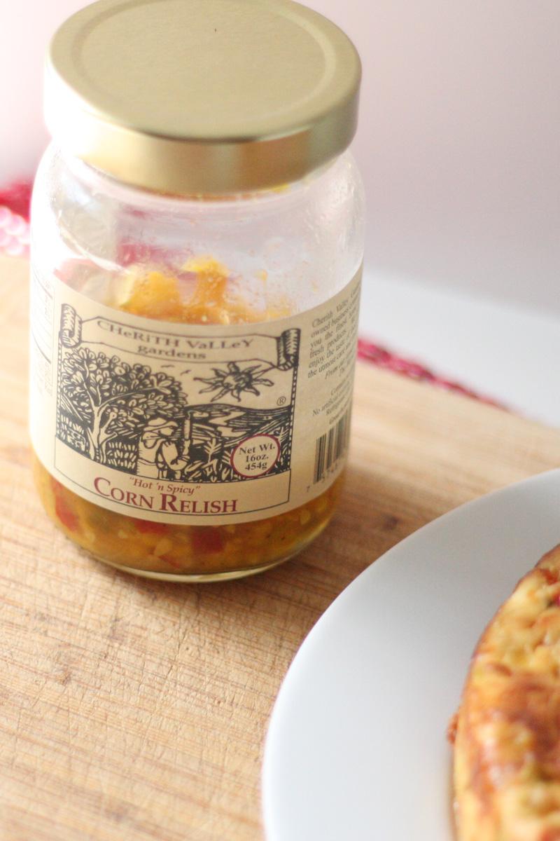 Corn Relish Savory Cheesecake | SavoryPantryBlog.com