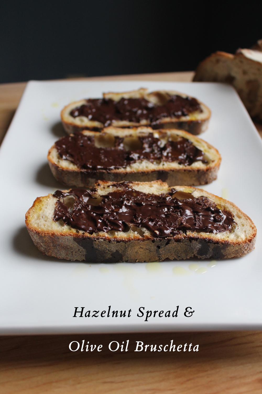 Hazelnut Spread & Olive Oil Bruschetta | SavoryPantryBlog.com